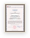 Certificate of accreditation I‑001